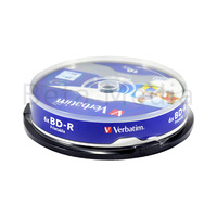 Verbatim Blu ray BD-R 6x 25GB 10 disc spindle