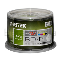 Ritek Blu ray BD-R 12x 25GB 50 disc spindle