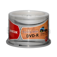50 Ritek Blank Hub Printable Thermal White DVD-R 16X