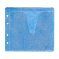 Blue CD / DVD Double Sided Plastic Sleeves