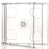 Double Standard Jewel CD Cases with Clear Tray