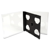 Double Standard Jewel CD Cases with Black Tray
