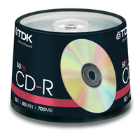 50 TDK CD-R Gold 52x blank discs