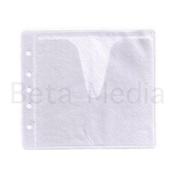 White CD / DVD Double Sided Plastic Sleeves