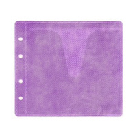 Purple CD / DVD Double Sided Plastic Sleeves