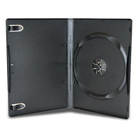 Single black 14mm DVD cover cases