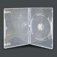 Single clear 14mm DVD cover cases