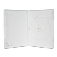 Single white 14mm DVD cover cases