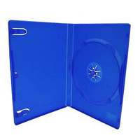 Single blue 14mm DVD cover cases