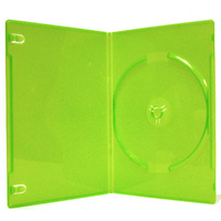 Single green 14mm DVD cover cases
