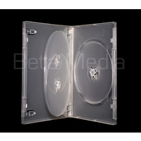 Triple clear 14mm DVD cover case