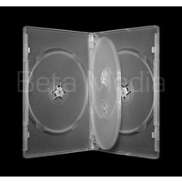 Quad clear 14mm DVD cover case
