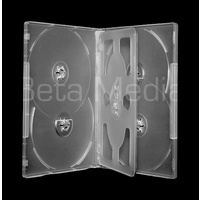 Holds 6, clear 14mm DVD cover case