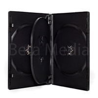 Quad black 14mm DVD cover case