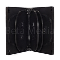 Holds 8, black 27mm DVD cover case