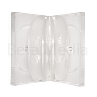 Holds 10, clear 33mm DVD cover case