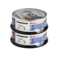 50 x Intact 8.5GB DVD+R DL Dual layer 8X - Full Hub Glossy Printable DVD