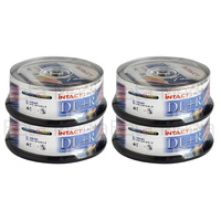 100 x Intact 8.5GB DVD+R DL Dual layer 8X - Full Hub Glossy Printable DVD