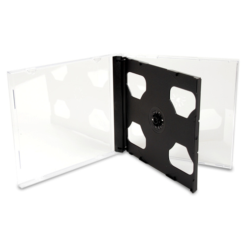 Double Standard Jewel CD Cases with Black Tray [I need: 400 (4 boxes) ]