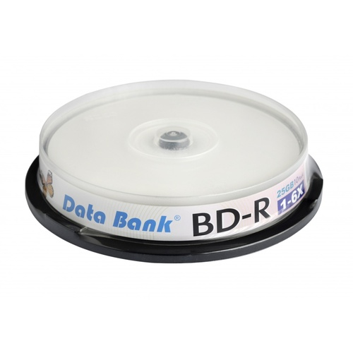 Data Bank Blu ray BD-R 6x 25GB 10 disc spindle