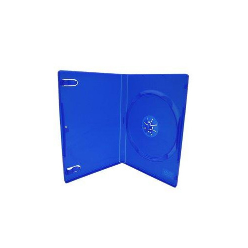 Single blue 14mm DVD cover cases [I need: 100 ]