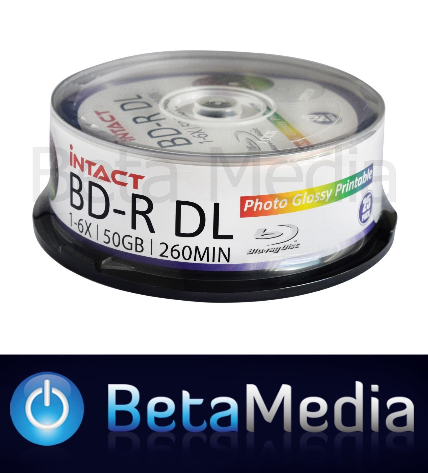 picture about Printable Blu Ray Discs named 25 x Intact Blu-ray BD-R DL 6x 50GB Shiny Printable - Substantial Means Blu ray Discs