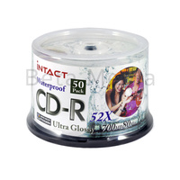 Intact Ultra Glossy Waterproof CD-R 52X blank discs