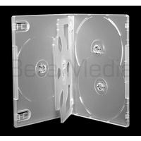 Holds 5, clear 14mm DVD cover case