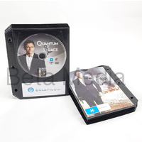 Black DVD Sleeves with binder holes - holds disc and paper cover