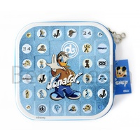 Disney Donald Duck CD / DVD Tin Storage Wallet Case Holds 24 discs