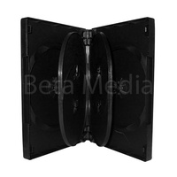 Holds 6, black 22mm DVD case - Clearance