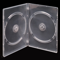 Double clear 14mm DVD cover cases