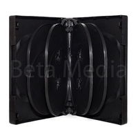 Holds 10, black 33mm DVD cover case