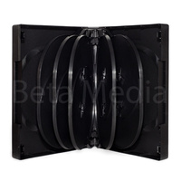 Holds 12, black 39mm DVD cover case
