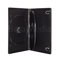 Triple black 14mm DVD cover case
