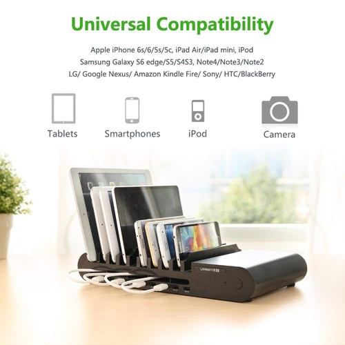 UGreen 10 Port USB Charging Station - Black