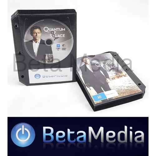 Black DVD Sleeves with binder holes - holds disc and paper cover [I Need: 50]