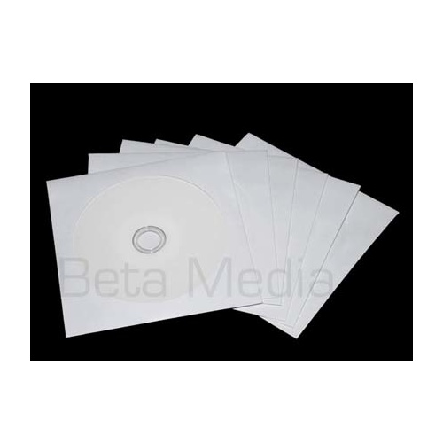 PAPER CD/DVD Sleeves with plastic window 100GSM [I Need: 100]