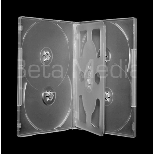 Holds 6, clear 14mm DVD cover case [I need: 100 ]